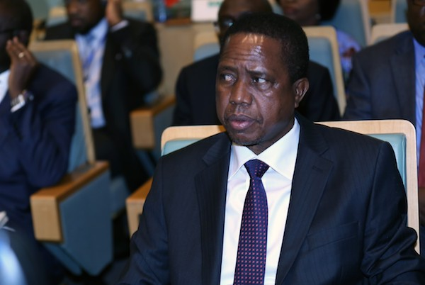 **FILE** Zambian President Edgar Lungu attends a High Level Consultation Meeting with African leaders on DR Congo election at the AU headquarters in Addis Ababa on Jan. 17, 2019. (Photo by Minasse Wondimu Hailu/Anadolu Agency/Getty Images)