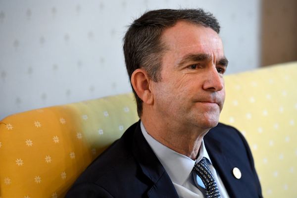 Virginia Gov. Ralph Northam talks about how he was raised during an interview in the Governor's Mansion February 09, 2019 in Richmond, VA. He and Attorney General Mark R. Herring have admitted to using blackface in the past. And, Lt. Gov. Justin Fairfax denies sexually assaulting two women. (Photo by Katherine Frey/The Washington Post via Getty Images)