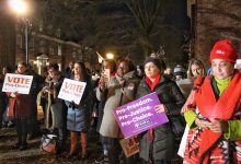 Photo of Women Push for Equal Rights at Rally