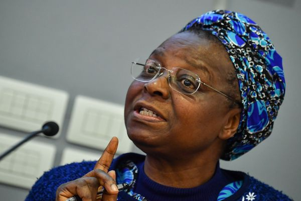"Nigerian Board Member of UISG (International Union of Superiors General), nun Veronica Openibo, answers to journalists during a press conference on ""The Protection of Minors in the Church,"" in central Rome on Feb. 25, 2019. (Andreas Solaro/AFP/AFP/Getty Images)"