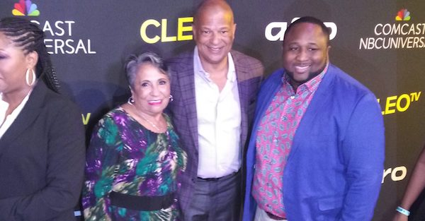 "Urban One Founder Cathy Hughes (left) with Urban One President and CEO Alfred Liggins III (Center) and Cleo TV ""New Soul Kitchen"" Star Chef Jernard Wells (Courtesy of NNPA Newswire)"
