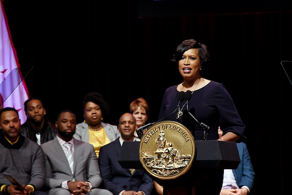 D.C. Mayor Muriel Bowser delivers her fifth State of the District Address before hundreds of people at the University of the District of Columbia on March 18. (Roy Lewis/The Washington Informer)