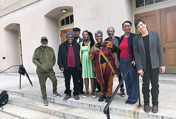Northeast residents go to D.C. Superior Court to stop the building of a fire station in their residential neighborhood. (Courtesy of Michele Tingling-Clemmons)