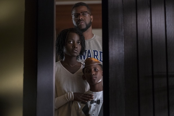 """Lupita Nyong'o (left), Winston Duke (rear) and Evan Alex star in the thriller """"Us."""" (Tasos Katopodis/Getty Images for Universal Pictures)"""
