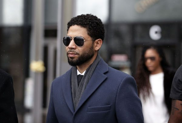 "**FILE** Actor Jussie Smollett leaves Leighton Criminal Courthouse after his court appearance in Chicago on March 14, 2019. Smollett stands accused of arranging a homophobic, racist attack against himself in an attempt to raise his profile because he was dissatisfied with his salary on the Fox television drama ""Empire."" (Photo by Nuccio DiNuzzo/Getty Images)"