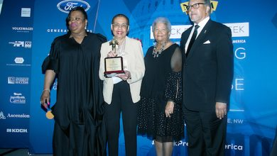 Photo of Norton, BLM's Garza Honored by NNPA