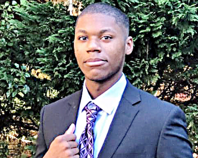 """Jonathan Collins, a student at DuVal High School in Lanham, won """"Debater of the Year."""" (Courtesy of PGCPS)"""