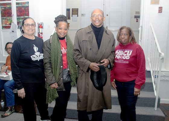 Washington Informer Charities Board members with (from left) tour historian Elizabeth Primas, Denise Rolark Barnes, C.R Gibbs and Gail Reed (Shevry Lassiter/The Washington Informer)