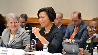 Photo of Bowser Talks Housing at League of Cities Gathering