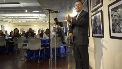 Dave Velazquez, president and CEO of Pepco Holdings, speaks during Pepco's Volunteer Recognition Breakfast in Pepco's Edison Place Gallery in D.C. on March 11. (Courtesy of Pepco Holdings)