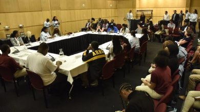 Photo of Students Discuss Issues with D.C. Leaders