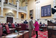 Members of the Maryland Senate on the floor before they convene March 26 (William J. Ford/The Washington Informer)