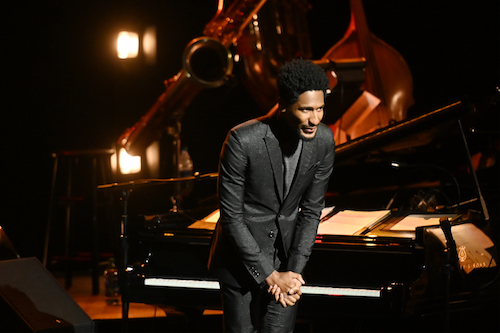 **FILE** Jon Batiste performs onstage during Jazz at Lincoln Center's 2019 Gala - The Birth of Jazz: From Bolden to Armstrong at Frederick P. Rose Hall, Jazz at Lincoln Center on April 17, 2019 in New York City. (Photo by Noam Galai/Getty Images for Jazz At Lincoln Center)