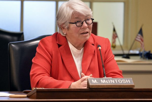 **FILE** Maryland House of Delegate Maggie McIntosh, who chairs the House Appropriations Committee, speaks during the hearing on the University Maryland football aftermath in Annapolis on Nov. 15. (Mark Gail/The Washington Post via Getty Images)