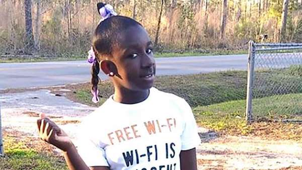Raniya Wright, a 5th-grade student at Forest Hills Elementary School, is pictured in this undated photo provided by her family.
