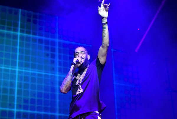 Rapper Nipsey Hussle performs onstage during the Power 106 Powerhouse festival at Glen Helen Amphitheatre on May 12, 2018 in San Bernardino, California. (Photo by Scott Dudelson/Getty Images)