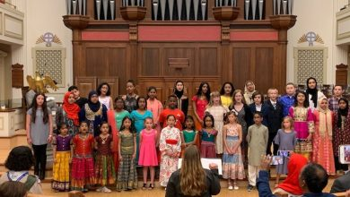 """The 2019 Interfaith Youth Choir performs during """"Dr. King's Vision: Humanity Tied in a Single Garment of Destiny,"""" an event hosted by the InterFaith Council of Metropolitan Washington and the Council of Churches of Greater Washington, at the New York Avenue Presbyterian Church in D.C. on April 7. (Hamil R. Harris/The Washington Informer)"""