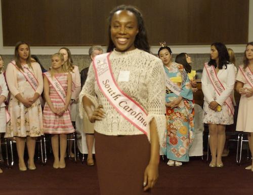 Olivia Elder is the Cherry Blossom Princess representing South Carolina. (Carl Bouchard/NCSS)