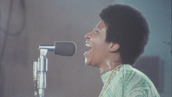 "Aretha Franklin performs in ""Amazing Grace,"" a film documenting her 1972 live album of the same name. (Courtesy of NEON)"