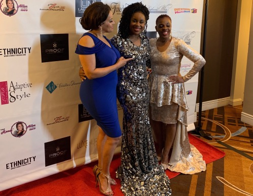 "From left: Renee Allen, Stephanie White and Christine Diamond pose for a photo during the ""A Night to Remember"" fundraiser gala and fashion show in Silver Spring, Md., on April 27. (Courtesy photo)"
