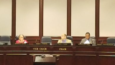 Members of the Prince George's County Council members hold a session at the County Administration Building in Upper Marlboro on May 29 to vote on the county's fiscal 2020 budget proposal. (William J. Ford/The Washington Informer)