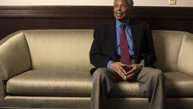 """Judge Damon Jerome Keith, a Senior Judge for the United States Court of Appeals for the Sixth Circuit, is a living civil rights icon and the subject of a documentary about his life, """"Walk with Me: The Trials of Damon J. Keith."""" Judge Keith is photographed at Howard University Law School in Washington, DC on September 23, 2016. (Photo by Marvin Joseph/The Washington Post via Getty Images)"""