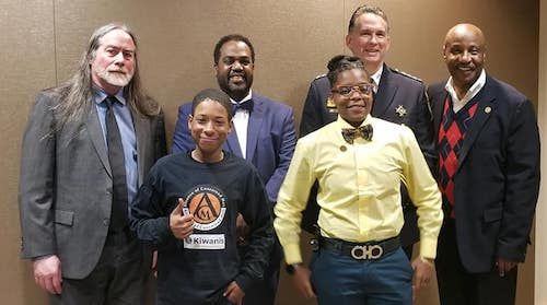 From left: David Kennedy, Dr. Joseph Richardson, D.C. Police Chief Peter Newsham, Tyrone Parker, Ty'velle Wilson and Taniecia Byrd (Courtesy of Alliance of Concerned Men)