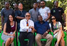 From left: Tish Kay Bazil, Dr. Benjamin F. Chavis Jr., Augustine Suwedi Chidzanja and Ana E. Chavis (George McKinzie via NNPA Newswire)