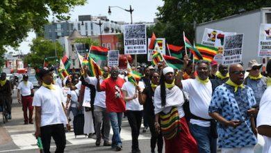 Photo of Zimbabwe Economic Sanctions Protest Reaches White House
