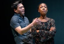 Tony Nam and Erica Chamblee (Stan Barouh/Mosaic Theater)