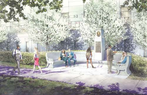 An artist rendering of a dedicated space in honor of D.C. Del. Eleanor Holmes Norton on the Georgetown University Law Center's campus is shown here. (Courtesy of The Georgetown University Law Center Media Office)