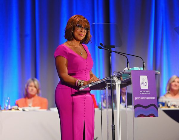 Gayle King speaks at the 2019 Matrix Awards at Sheraton New York Times Square in New York City on May 6, 2019. (Nicholas Hunt/Getty Images)