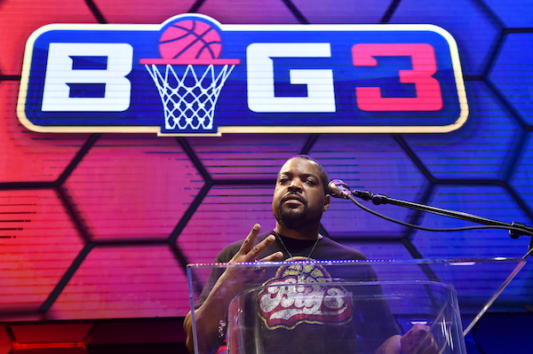BIG3 co-founder Ice Cube poses ahead of the BIG3 Draft at the Luxor Hotel & Casino in Las Vegas on May 1, 2019. (David Becker/Getty Images)