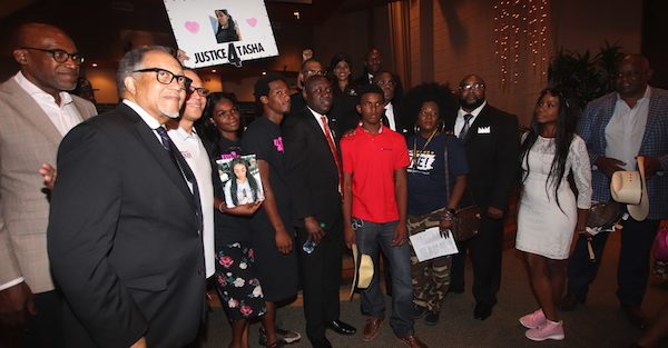 Attorney and activist Ben Crump, Broward/Fort Lauderdale NAACP President Marsha Ellington, National Newspaper Publishers Association (NNPA) President and CEO Benjamin F. Chavis Jr., Westside Gazette Publisher Bobby Henry and the late Trayvon Martin's mother Sybrina Fulton were among the many to participate in the march. (Courtesy of NNPA Newswire)