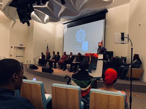 "Muslims from the Nation of Islam, the Moorish Science of America joined Sunni Muslims and four other groups on the eve of Ramadan for a historic summit to ""close the gap,"" in terms of their beliefs. Imam Yahya Muhammad convened the meeting at the Diyanet Center of America in Lanham, Maryland. (Hamil R. Harris/The Washington Informer)"