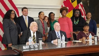 Photo of Health Insurance, School Construction Focal Points of Annual Md. Bill-Signing