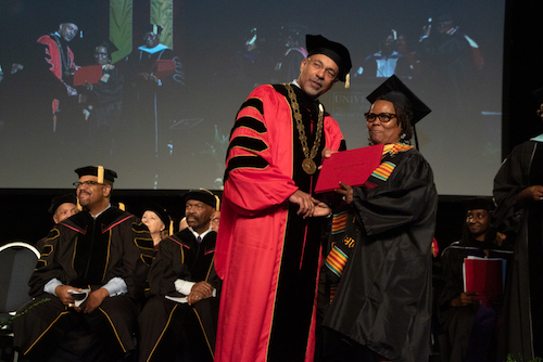 Catherine Fitch, 58, recently received a bachelor's degree in social work from UDC. (Shevry Lassiter/The Washington Informer)