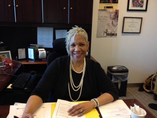 Jeri Green sits at her desk at the U.S. Census Bureau in 2016. For over three decades, Green has helped make the decennial census a leading civil rights issue, both as a Census Bureau insider, and now as an advocate for the National Urban League. (Courtesy of Trice Edney News Wire)