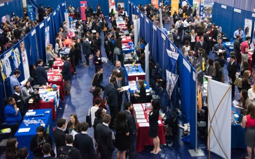 A recent job fair at American University (Courtesy of AU)