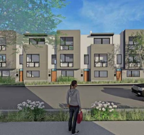 Artist rendering of phase 3 of Cynthia Townhomes
