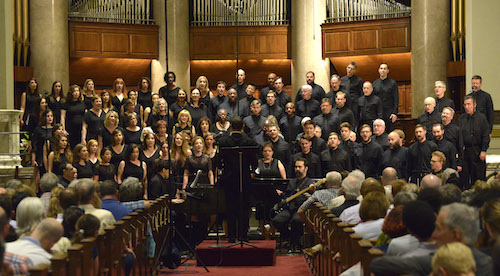 The combined choirs of the Congressional Chorus deliver in the 32nd season finale concert. (Robert Roberts/The Washington Informer)