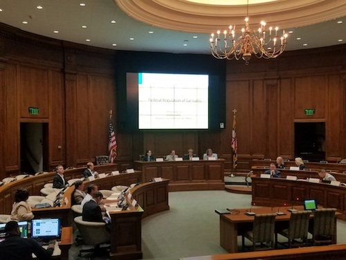The Marijuana Legalization Workgroup holds its first session in Annapolis on June 25. (William J. Ford/The Washington Informer)
