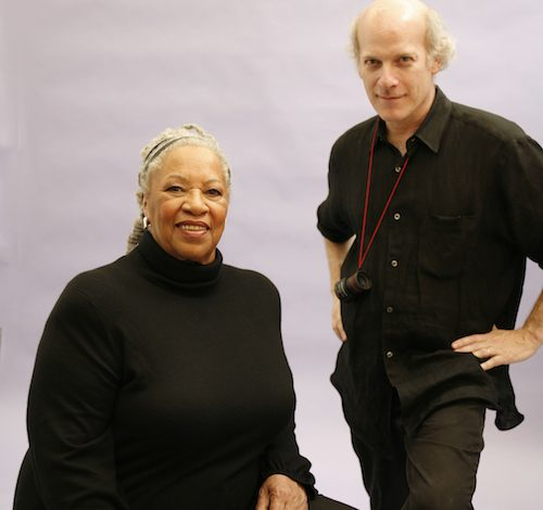 "Author Toni Morrison and Timothy Greenfield-Sanders, director and co-producer of ""Toni Morrison: The Pieces I Am"" (Courtesy of AFI DOCS Film Festival)"