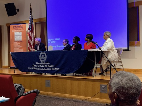 Panelists share their views during a discussion about sickle cell disease to promote greater awareness. (WI Photo)