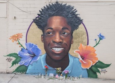 Mural of 15-year-old Maurice Scott (Courtesy of dc.gov)