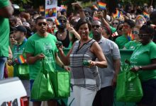Photo of Throng of Celebrants Salute, Support Gay Pride Festivities