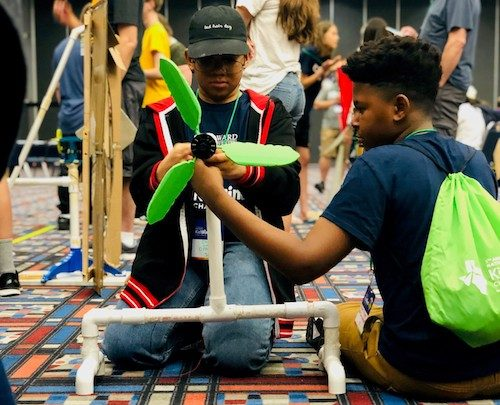 D.C. Public Charter Schools students participate in the National KidWind Challenge. (Courtesy of Digital Pioneers Academy PCS)
