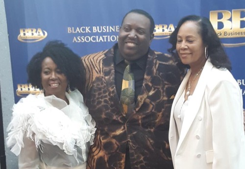 "The Black Business Association celebrated gospel music by honoring Vicki Macklataillade, Byron J. Smith and Lisa Collins during its recent ""Salute to Black Music"" awards dinner. (Courtesy photo)"