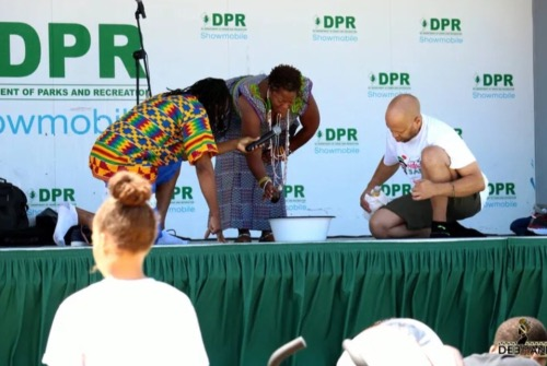 A pouring of libation at the inaugural D.C. Pan-African Festival (Courtesy photo)