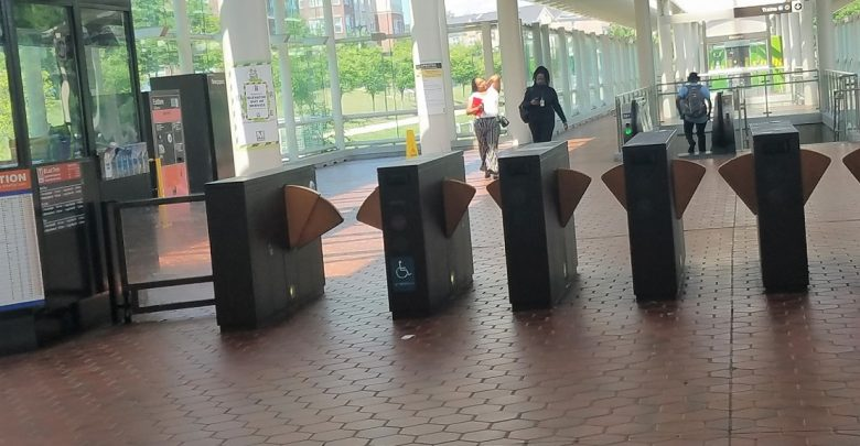 The fare gates at Metro's Morgan Boulevard in Landover, Maryland, are shown here on July 12. (William J. Ford/The Washington Informer)